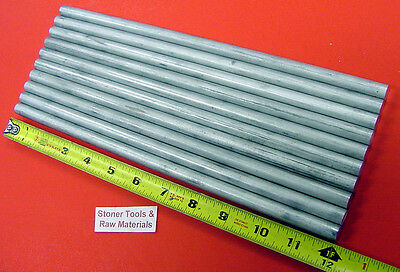 "10 Pieces 1/2"" ALUMINUM 6061 ROUND ROD 12"" long Solid .50"" T6511 Lathe Stock"