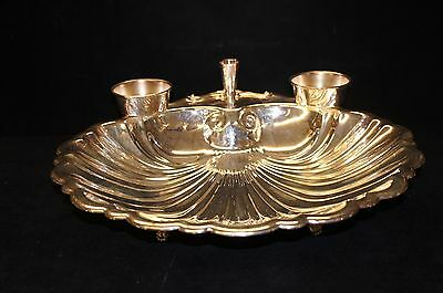 The Sheffield Silver Company Silver Plated Shrimp Cocktail Dish Large Scallop