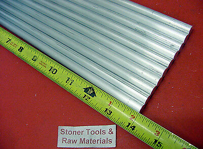 """10 Pieces 3/8"""" ALUMINUM 6061 ROUND ROD 14"""" long T6511 .375 Solid Lathe Bar Stock"""