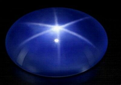 ~ rare collection save $~3.25 CT Glorious Cornflower Blue STAR SAPPHIRE GEMSTONE