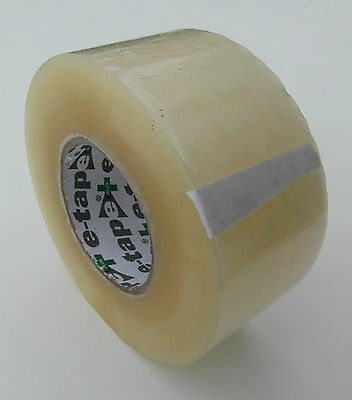 E-Tape Premium Quality Packing Tape-Sellotape Clear 150M Roll, Packaging Sealing