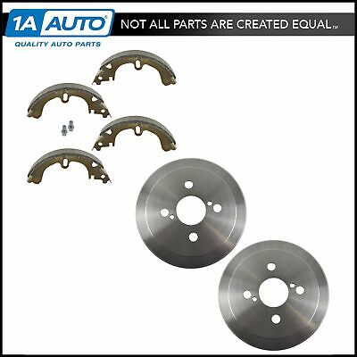 Rear Brake Drum & Shoe Pair Set NEW for Toyota Corolla Chevy Prizm