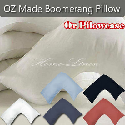 Maternity Boomerang Pillow/1000TC Cotton V-shaped Solid Colour Pillowcases