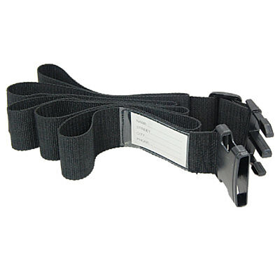 "78 x 2"" Nylon Travel Adjustable Luggage Strap Black"