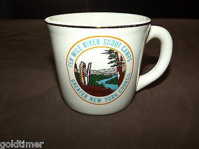 Vintage Bsa Boy Scouts  Mug Ten Mile River Scout Camps Greater New York Council