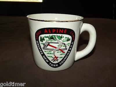 Vintage Bsa Boy Scouts  Coffee Mug Alpine Scout Camp New York Council
