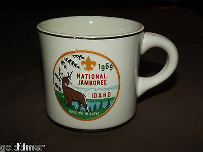 Vintage Bsa Boy Scouts Coffee Mug  1969 National Jamboree Idaho