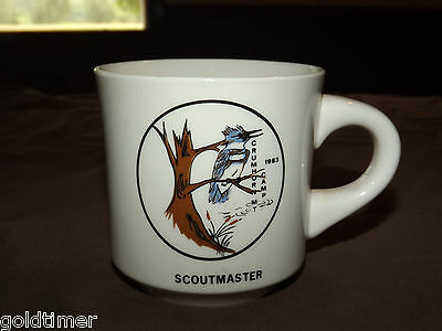 Vintage Bsa Boy Scouts  Coffee Mug 1983 Crumhorn Mt Camp Scoutmaster