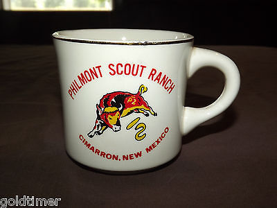 Vintage Bsa Boy Scouts  Coffee Mug Philmont Scout Ranch Cimarron New Mexico Nm
