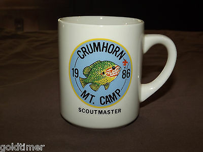 Vintage Bsa Boy Scouts  Coffee Mug 1986 Crumhorn Mt Camp Scoutmaster