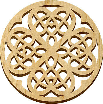 """NEW - DELUXE DESIGNED HARDWOOD TRIVETS 7.7"""" Made in USA-  Protect counter table"""