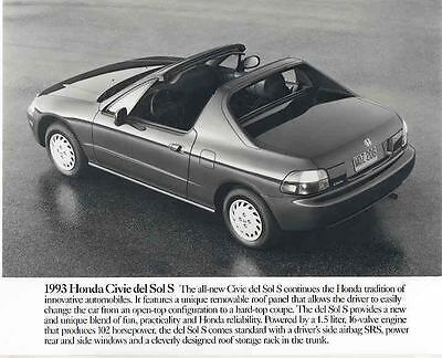 1993 Honda Civic Del Sol S Automobile Photo Poster Zab8439 Sdyjen