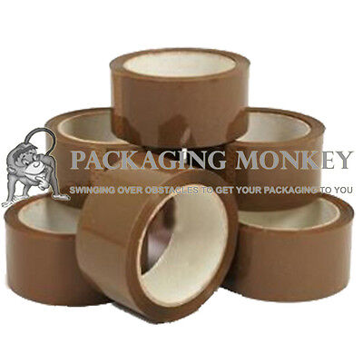 12 Rolls Strong Brown Packing Parcel Tape 48mm x 50M
