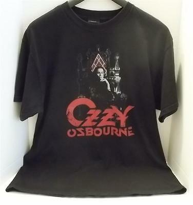 Ozzy Osbourne On The Throne Official 2007 Black Vintage Style T Shirt Xl