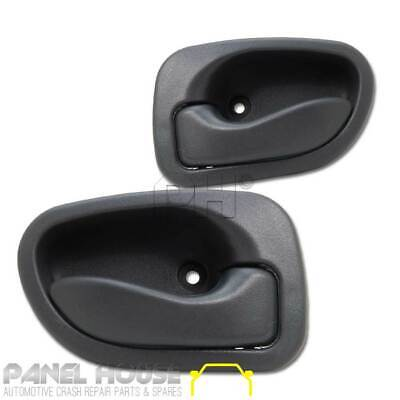 Hyundai Excel Inner Door Handle PAIR 1994 - 2000 LH RH Front & Rear Grey Handles