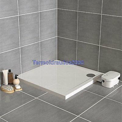 TRAYMATIC EXTERIOR 90x90 RIGHT shower tray equipped external wastewater pump