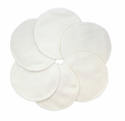 Washable Natural Bamboo Breast Pads - Pack of 6 (Natural Colour)