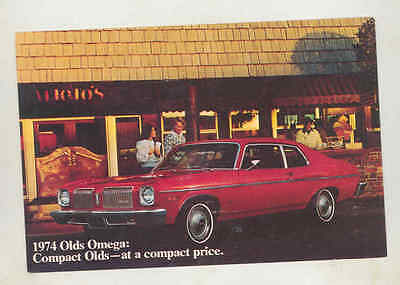 1974 Oldsmobile Omega Large Factory Postcard mx8364