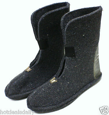 Heavy Wool Felt Winter Boot Liners Pair Childs Size 9 80% Wool  Snowmobile Snow