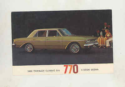 1963 AMC Rambler Classic 770 Sedan Factory Postcard mx8477