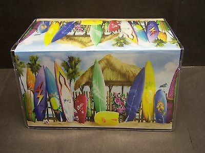 Tropical Surfboards Beach Hut  Image 1  Vinyl Checkbook Cover
