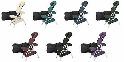 Earthlite Vortex Lightweight Portable Massage Chair Package - 7 COLOR CHOICE