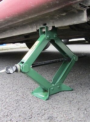 1 TON TONNE SCISSOR CAR JACK VAN CARAVAN WIND UP GARAGE fast 1000KG LIFT