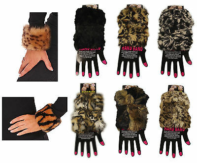 Luxury Faux Fur Hand Bands, Snap On Wrist Band Bracelet Sleeve Cuff, Winter Gift