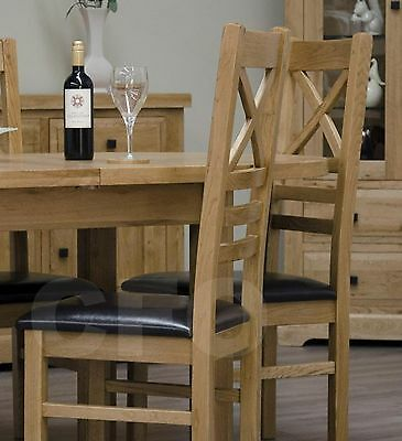 Claridge solid oak furniture set of four cross back dining chairs