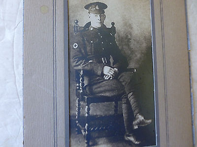 WWI British Photo Red Cross Field Director Picture Post Card Framed WW1