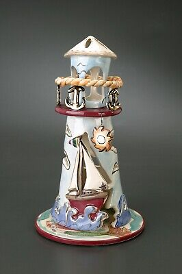 BLUE SKY/ CLAYWORKS - Candle Lighthouse - SET SAIL TO YOUR DREAM