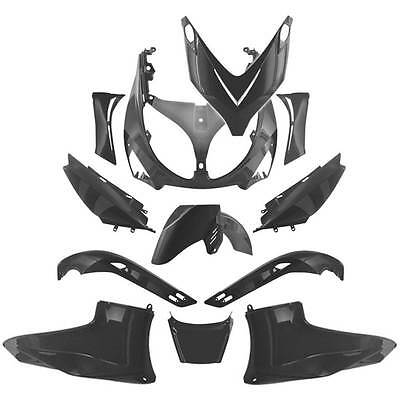 Kit Carena Completa Fairing Coque T-Max Tmax 500 Xp Black Unpainted Lexus Style