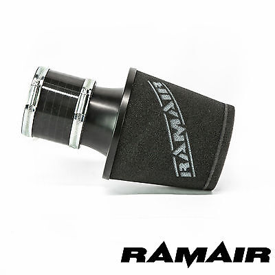 Ramair Universal Twin Layer Foam Black Air Filter With 80Mm Id Silicone Coupling