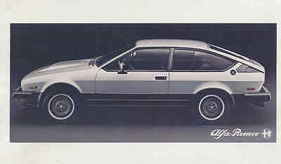 1984 Alfa Romeo GTV6 Large Factory Postcard mx8552