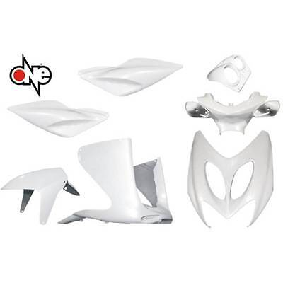 Kit Carena 7 Carene Bianco Perla Mbk Nitro Yamaha Aerox '97'12 Fairing Carenage