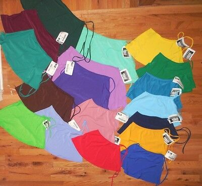 NWT Side Tie Ballet skirt Matte Spandex Many Colors Child/Ladies dance Costuming