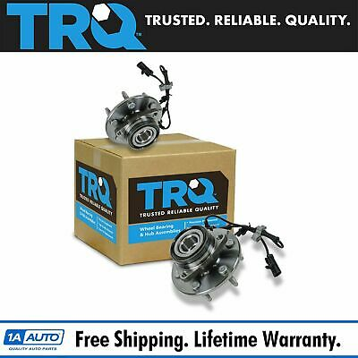 TRQ 2 Front Wheel Hubs & Bearings Pair Set w/ ABS for Chevy GMC Truck 4X4 4WD