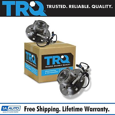 TRQ Front Inner Wheel Hub & Bearing Pair for Chevy GMC HD Truck 4WD 4x4 w/ ABS