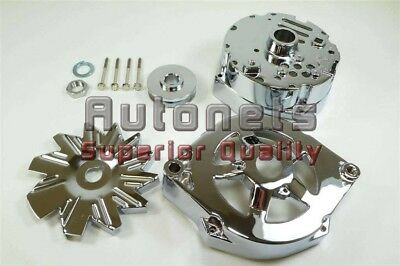 Chrome GM 73-85 Alternator Housing GMC Chevy Camaro Chevelle Impala Pulley Kit