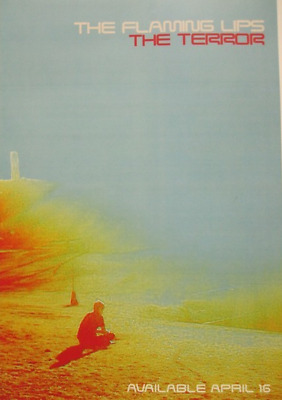 THE FLAMING LIPS 2013 the terror ADVANCE promotional poster ~NEW & MINT~!