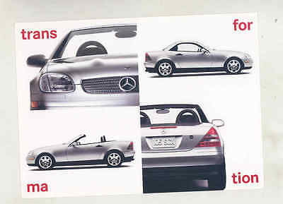 1997 Mercedes Benz SLK 230 SLK 200 Large Factory Postcard mx8720