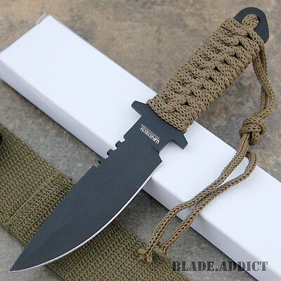 """7"""" Military Tactical Fixed Blade Boot Knife w/ Sheath Hunting Combat K1050-7-"""