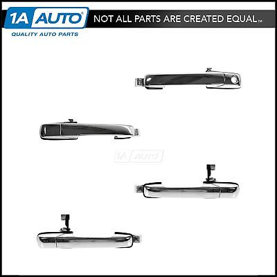Door Handle Front & Rear Outer Outside Chrome Kit Set of 4 for 01-06 Acura MDX
