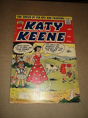 Katy Keene Comics 29 (GVG) Archie 1956 Bill Woggon Silver Age (id# 9373)
