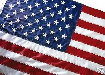 EMBROIDERED US FLAG 3X5 AMERICAN FLAG TOP QUALITY NYLON FREE SHIPPING SPECIAL