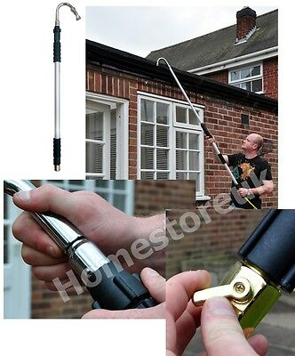 Telescopic Aluminium Extendable Pole Gutter Drain Drainage Cleaning Cleaner Brt7