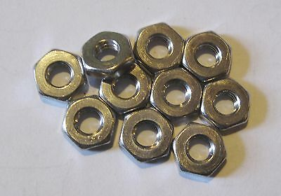 "10-24 (3/16"") UNC Full Nuts Stainless Steel (Qty 10)"