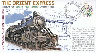 "COVERSCAPE computer designed 130th anniversary of the ""Orient Express"" cover"