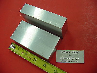 "2 Pieces 1"" X 2"" ALUMINUM 6061 FLAT BAR 4"" long Solid Plate MILL STOCK 1.00""x 2"""