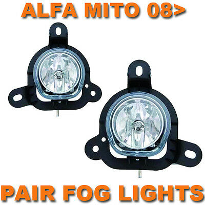 Alfa Romeo Mito 2008 Onwards Front Fog Lights Lamps Pair Left & Right
